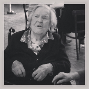 I took this photograph at Jane's 100th birthday party!